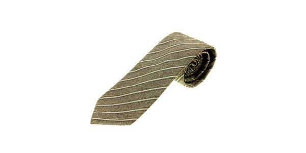 Pánská šedá proužkovaná kravata Gianfranco Ferré