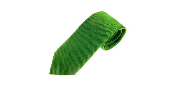 Pánská trávově zelená kravata Gianfranco Ferré