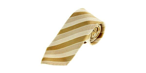 Pánská béžová saténová kravata Gianfranco Ferré