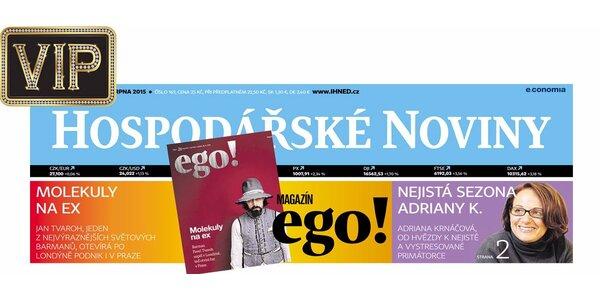 Půlroční předplatné pátečních Hospodářských novin