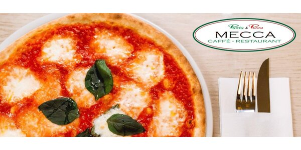 Dvě výtečné pizzy v Pasta & Pizza Mecca