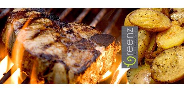 Dva 250g steaky z roštěné připravené na grilu!