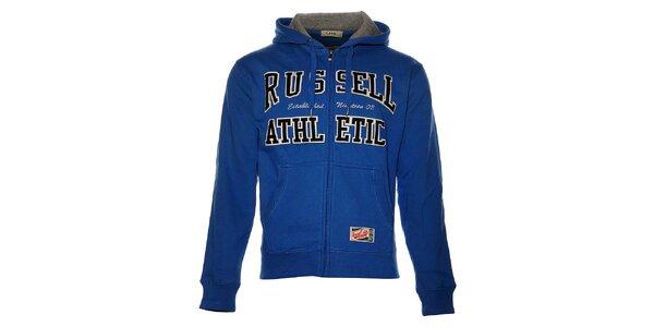 Pánská světle modrá mikina Russell Athletic s kapucí