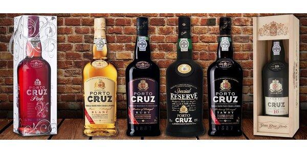 Luxusní portská vína Porto Cruz ze severu