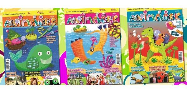 Roční předplatné časopisu Animáček