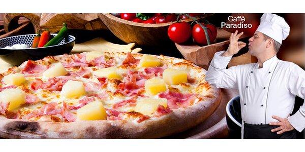 Dvě italské pizzy dle vlastního výběru