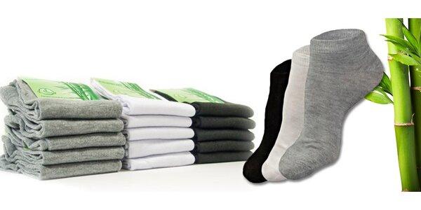 15 párů antialergeních ponožek z 95% bambusu