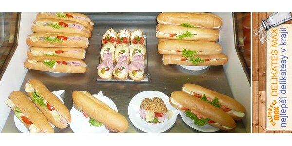 39 Kč za DVĚ bagety a DVA chlebíčky z menu podle vlastního výběru!