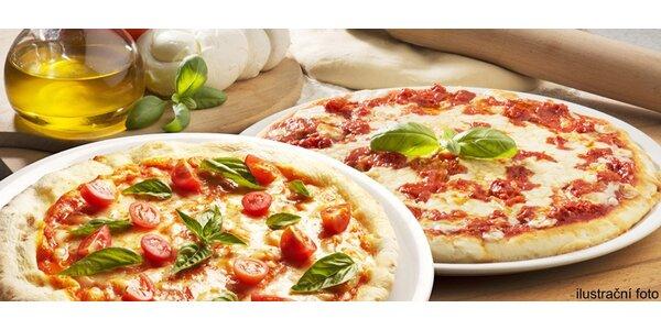 2 znamenité pizzy dle vlastního výběru