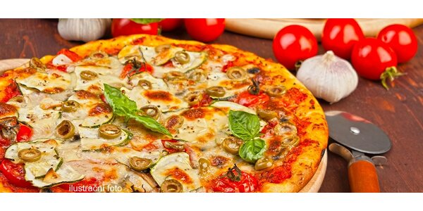 2 křupavé pizzy z kamenné pece