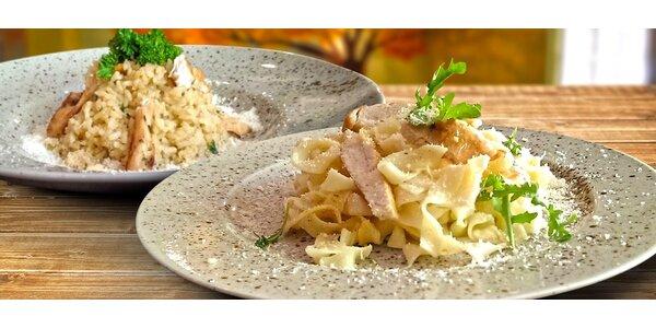 Italské menu pro dva: těstoviny nebo risotto