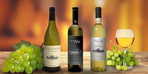 3 láhve bílého vína z Toskánska