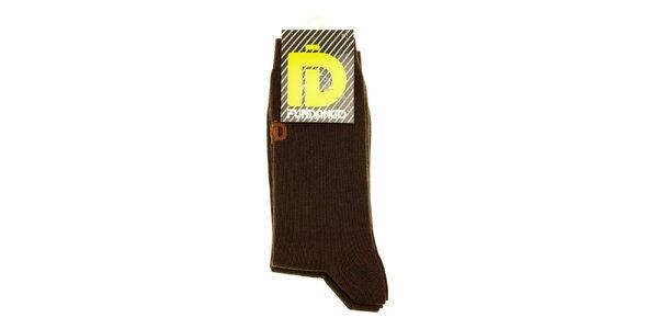 Pánské tmavě hnědé ponožky Fundango - 6 párů