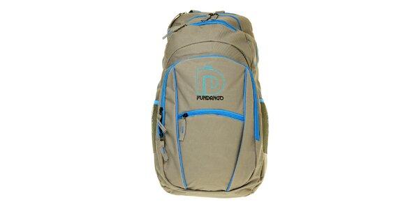 Pánský šedý batoh Fundango s modrými detaily