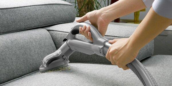 Hloubkové čištění sedacích souprav
