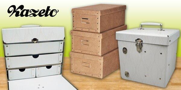 Designové úložné boxy a krabice Kazeto