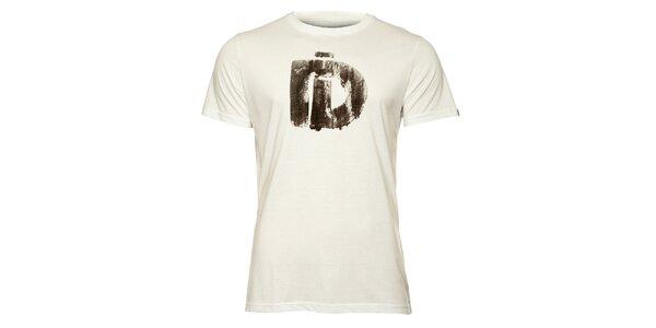 Pánské bílé tričko s krátkým rukávem a černým potiskem Fundango