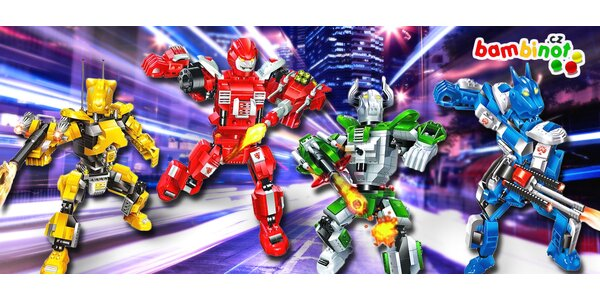 Roboti Transformer od značkové stavebnice BanBao