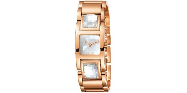 Dámské hodinky Esprit Rhinestone Rosegold