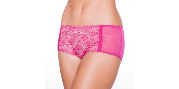 Dámské růžové krajkové kalhotky Wonderbra