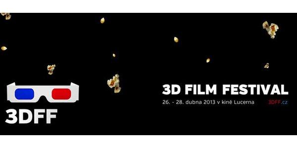 2 vstupenky na projekci prvního 3D filmového festivalu