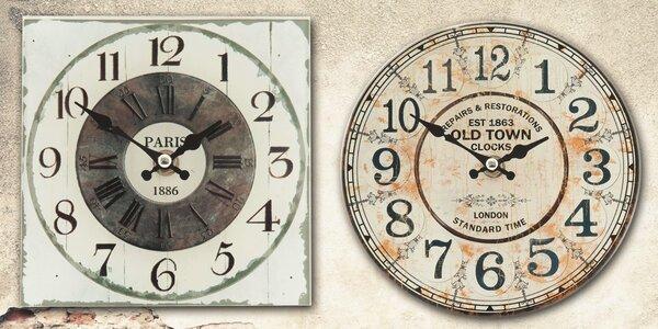 Designové rustikální hodiny