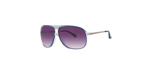 Pánské transparentní sluneční brýle Michael Kors s modrými detaily