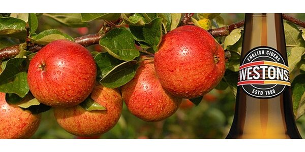 Degustační box 3 druhů jablečných anglických Westons ciderů
