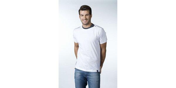 Pánské bílé tričko CLK s šedým detailem
