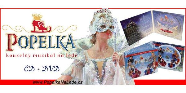 CD + DVD z muzikálu na ledě Popelka