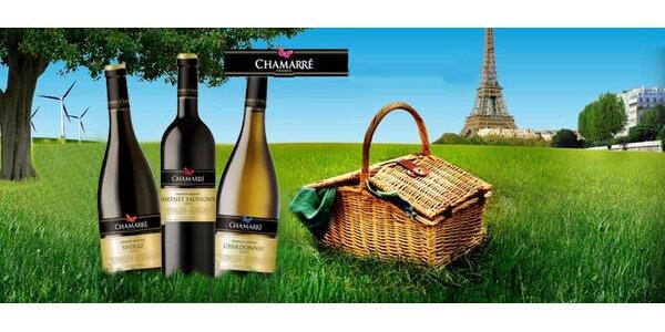 599 Kč za set tří francouzských vín dle výběru