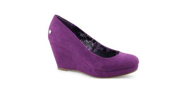 113f1136ee3 Dámské purpurově fialové lodičky na klínku Blink
