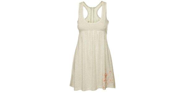 Dámské světle šedé tílkové šaty Fundango