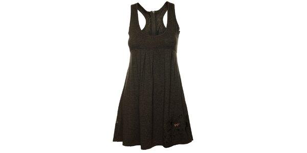 Dámské tmavě šedé tílkové šaty Fundango