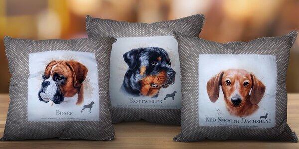 Kvalitní bavlněné polštářky Beautiful Dogs