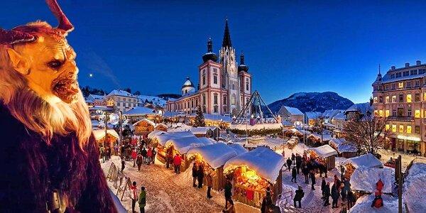 Adventní trhy a rej čertů v rakouském Mariazell