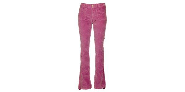 Dámské růžové manšestráky Fundango