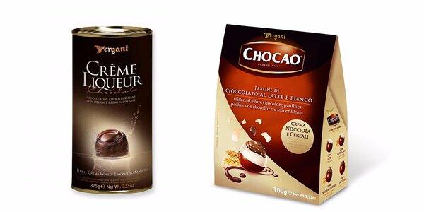 Italské likérové a lískooříškové pralinky Vergani
