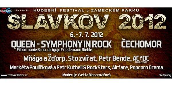 Vstupenky na hudební festival Slavkov - Čechomor a další!