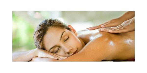 Relaxační masáž zad, šíje a nohou v délce 60 minut