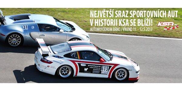 Vstupenky na Mezinárodní sraz sportovních aut v Brně