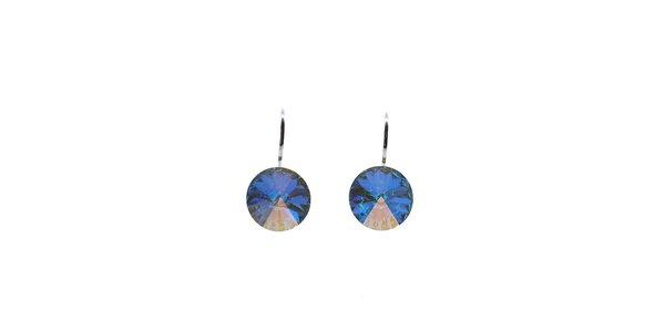 Náušnice Swarovski Elements modrobílý krystal