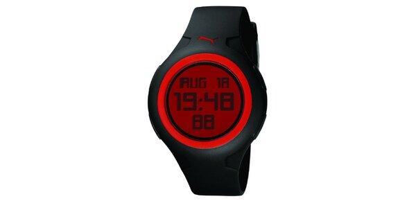 Pánské černo-červené digitální hodinky Puma