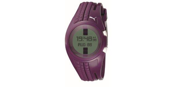 Dámské fialové digitální hodinky Puma