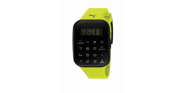 Zeleno-černé digitální hodinky Puma