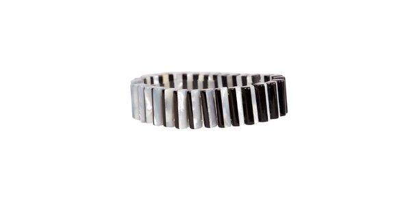 Dámský černo-bílý perlový náramek Arla
