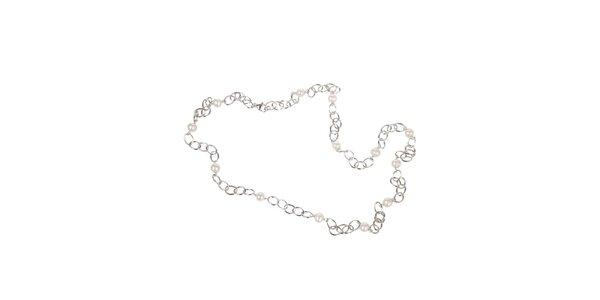 Dámský stříbrný perlový náhrdelník Arla