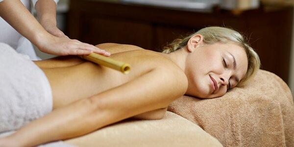 60minutová bambusová masáž celého těla
