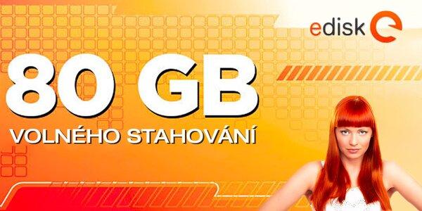 80 GB neomezeného stahování na eDisk.cz