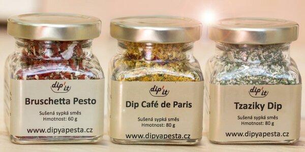 Dipy a pesta – sušené směsi bylin a koření pro dochucování pokrmů